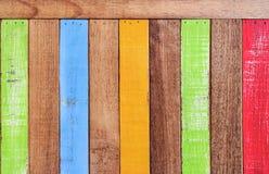Δημιουργικό αναδρομικό ξύλινο υπόβαθρο σύστασης χρωμάτων στοκ εικόνα με δικαίωμα ελεύθερης χρήσης