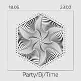 Δημιουργικό αφηρημένο σχέδιο ιπτάμενων, προτύπων ή εμβλημάτων με την ημερομηνία και το χρόνο ελεύθερη απεικόνιση δικαιώματος