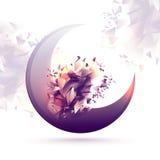 Δημιουργικό ημισεληνοειδές φεγγάρι για τα ισλαμικά φεστιβάλ Στοκ Εικόνες