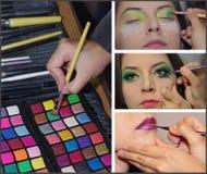 Δημιουργικό κολάζ makeup Στοκ φωτογραφίες με δικαίωμα ελεύθερης χρήσης