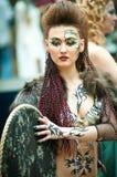 δημιουργικό μοντέλο makeup πρ&omega Στοκ Εικόνα