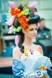 δημιουργικό μοντέλο makeup πρ&omega Στοκ Φωτογραφία