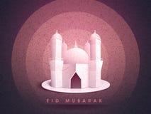 Δημιουργικό μουσουλμανικό τέμενος για τον εορτασμό Eid Μουμπάρακ Στοκ εικόνες με δικαίωμα ελεύθερης χρήσης