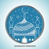 Δημιουργικό μουσουλμανικό τέμενος για Ramadan Μουμπάρακ Στοκ φωτογραφία με δικαίωμα ελεύθερης χρήσης
