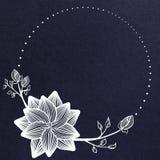 Δημιουργικό μπλε floral έμβλημα ελεύθερη απεικόνιση δικαιώματος