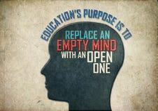 Δημιουργικό μυαλό εκπαίδευσης στοκ φωτογραφία με δικαίωμα ελεύθερης χρήσης