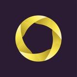 Δημιουργικό πρότυπο λογότυπων Κορδέλλα στον κύκλο διανυσματική απεικόνιση σχεδίου Στοκ φωτογραφία με δικαίωμα ελεύθερης χρήσης