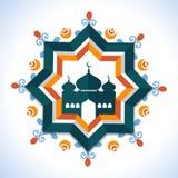 Δημιουργικό πλαίσιο με το μουσουλμανικό τέμενος για τον εορτασμό Ramadan Kareem Στοκ εικόνα με δικαίωμα ελεύθερης χρήσης