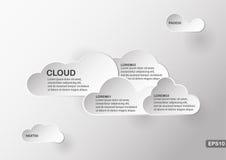 Δημιουργικό στοιχείο infographics του σύννεφου με το διάστημα κειμένων Στοκ Φωτογραφία