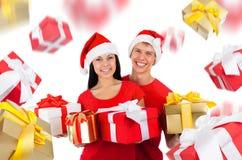 Δημιουργικό σχέδιο ζευγών Χριστουγέννων Στοκ εικόνα με δικαίωμα ελεύθερης χρήσης