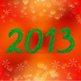 Δημιουργικό σχέδιο καλής χρονιάς 2013 Στοκ Εικόνες