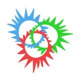 Δημιουργικό σύμβολο κύκλων Στοκ Εικόνες