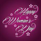 Δημιουργικό τυπογραφικό σχέδιο για την ημέρα των ευτυχών γυναικών Στοκ φωτογραφίες με δικαίωμα ελεύθερης χρήσης