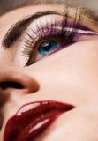 δημιουργικό χρώμα προσώπο& Στοκ Εικόνες