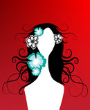 δημιουργικό floral κορίτσι Στοκ Εικόνα