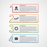 Δημιουργικό infographic πρότυπο επιλογών αριθμού διανυσματική απεικόνιση