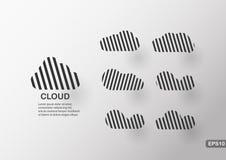 Δημιουργικό infographics του σύννεφου Στοκ εικόνες με δικαίωμα ελεύθερης χρήσης