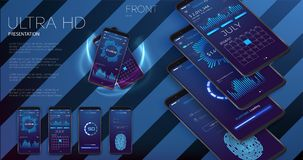 Δημιουργικό UI, UX, σχεδιάγραμμα GUI για το ηλεκτρονικό εμπόριο, απαντητικός ιστοχώρος και κινητά apps συμπεριλαμβανομένης της σύ ελεύθερη απεικόνιση δικαιώματος