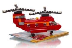 Δημιουργός LEGO - ελικόπτερο δύο στροφέων Στοκ φωτογραφίες με δικαίωμα ελεύθερης χρήσης