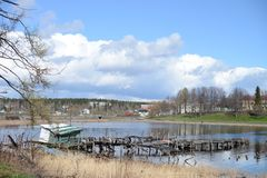 Δημοκρατία πόλεων Sortavala του ρωσικού Βορρά της Καρελίας στοκ εικόνα