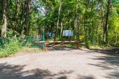 Δημοκρατία συνόρων των συνόρων ένωσης και Ρωσικής Ομοσπονδίας της Πολωνίας Ευρώπη σε Nowa Karczma σε Krynica Morska στοκ φωτογραφίες