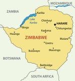 Δημοκρατία της Ζιμπάμπουε - διανυσματικός χάρτης διανυσματική απεικόνιση
