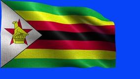 Δημοκρατία της Ζιμπάμπουε, σημαία της Ζιμπάμπουε - άνευ ραφής ΒΡΟΧΟΣ απεικόνιση αποθεμάτων