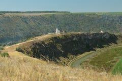 Δημοκρατία της Μολδαβίας, Orhei Vechi/Orheiul Vechi, ποταμός Raut, Mona στοκ φωτογραφία με δικαίωμα ελεύθερης χρήσης