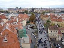 Δημοκρατία της Τσεχίας, Πράγα, γέφυρα του Charles και παλαιά πόλη στοκ εικόνες με δικαίωμα ελεύθερης χρήσης