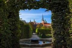 Δημοκρατία της Τσεχίας της Πράγας κήπων Wallenstein στοκ εικόνα