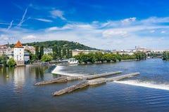 Δημοκρατία της Τσεχίας Vltava Πράγα ποταμών Στοκ εικόνα με δικαίωμα ελεύθερης χρήσης
