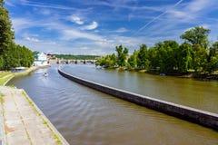 Δημοκρατία της Τσεχίας Vltava Πράγα ποταμών Στοκ φωτογραφία με δικαίωμα ελεύθερης χρήσης