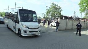 ΔΗΜΟΚΡΑΤΊΑ ΤΗΣ ΤΣΕΧΊΑΣ ΤΟΥ ΜΠΡΝΟ, ΣΤΙΣ 2 ΜΑΐΟΥ 2018: Αυτοκίνητα Skoda πολυτέλειας και πρωθυπουργός Andrej Babis, κακία Audi - πρό απόθεμα βίντεο