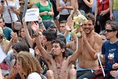 δημοκρατία τώρα πραγματική Στοκ φωτογραφία με δικαίωμα ελεύθερης χρήσης