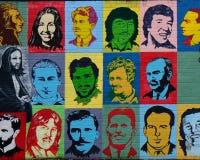 Δημοκρατική τοιχογραφία, Μπέλφαστ, Βόρεια Ιρλανδία Στοκ Εικόνες