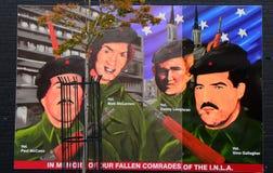 Δημοκρατική τοιχογραφία, Μπέλφαστ, Βόρεια Ιρλανδία στοκ φωτογραφία