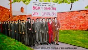 Δημοκρατική τοιχογραφία, Μπέλφαστ, Βόρεια Ιρλανδία Στοκ εικόνες με δικαίωμα ελεύθερης χρήσης