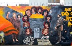 Δημοκρατική τοιχογραφία, Μπέλφαστ, Βόρεια Ιρλανδία Στοκ φωτογραφίες με δικαίωμα ελεύθερης χρήσης
