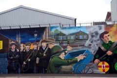 Δημοκρατική τοιχογραφία, Μπέλφαστ, Βόρεια Ιρλανδία στοκ φωτογραφίες