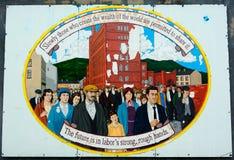 Δημοκρατική τοιχογραφία, Μπέλφαστ, Βόρεια Ιρλανδία στοκ εικόνα