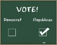 δημοκρατική ψηφοφορία Στοκ Φωτογραφίες