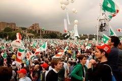 δημοκρατική pd συμβαλλόμενων μερών συνάθροιση Ρώμη Στοκ φωτογραφίες με δικαίωμα ελεύθερης χρήσης