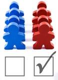 δημοκρατικός ψηφοφόρος ψηφοφορίας συγκέντρωσης στοκ εικόνες