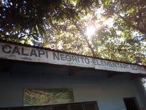 Δημοτικό σχολείο negrito Calapi στοκ φωτογραφίες με δικαίωμα ελεύθερης χρήσης