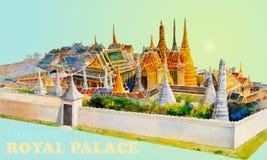 Δημοφιλές βασιλικό μεγάλο παλάτι Μπανγκόκ Ταϊλάνδη ορόσημων ταξιδιού στοκ εικόνες