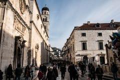 Δημοφιλέστερη οδός σε Dubrovnik Στοκ φωτογραφίες με δικαίωμα ελεύθερης χρήσης