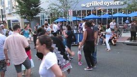 Δημοφιλής μουσική στο υπαίθριο φεστιβάλ απόθεμα βίντεο