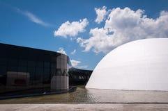 Δημοφιλές θέατρο του Oscar Niemeyer του Niteroi Στοκ Εικόνες