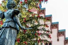 Δημοφιλές τουριστικό αξιοθέατο αγοράς Χριστουγέννων στη Φρανκφούρτη Αμ Μάιν, Γερμανία Στοκ εικόνες με δικαίωμα ελεύθερης χρήσης