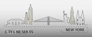Δημοφιλής αρχιτεκτονική πόλεων της Νέας Υόρκης Στοκ φωτογραφίες με δικαίωμα ελεύθερης χρήσης